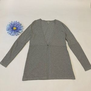Single Button Light Grey Cardigan (xs)